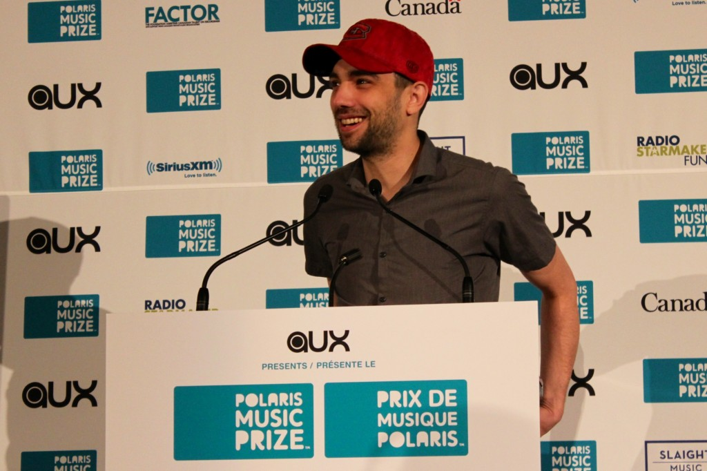 Jay Baruchel announcing the Polaris Prize short list