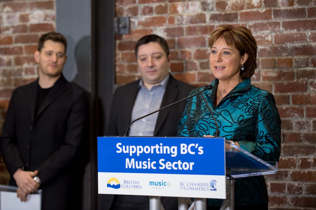 """No matter who you are, no matter how young, how old, no matter how esoteric your art may be, we want you to have a chance to succeed in British Columbia. And we want you to know that our province supports and is passionate about what you are doing in the way that you are changing the place that we live."" - Premier Christy Clark"