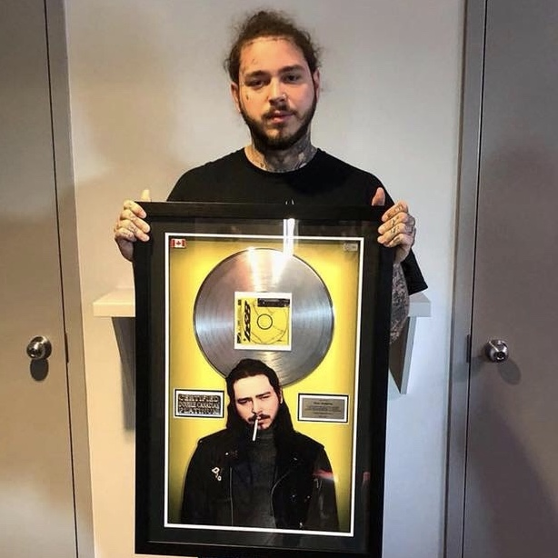 Post Malone surprised with Double Platinum plaque for